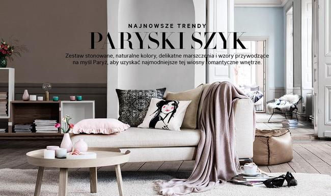 h m home paryski szyk na wiosn 2014 romantyczne wn trze z popularnej sieci wki. Black Bedroom Furniture Sets. Home Design Ideas